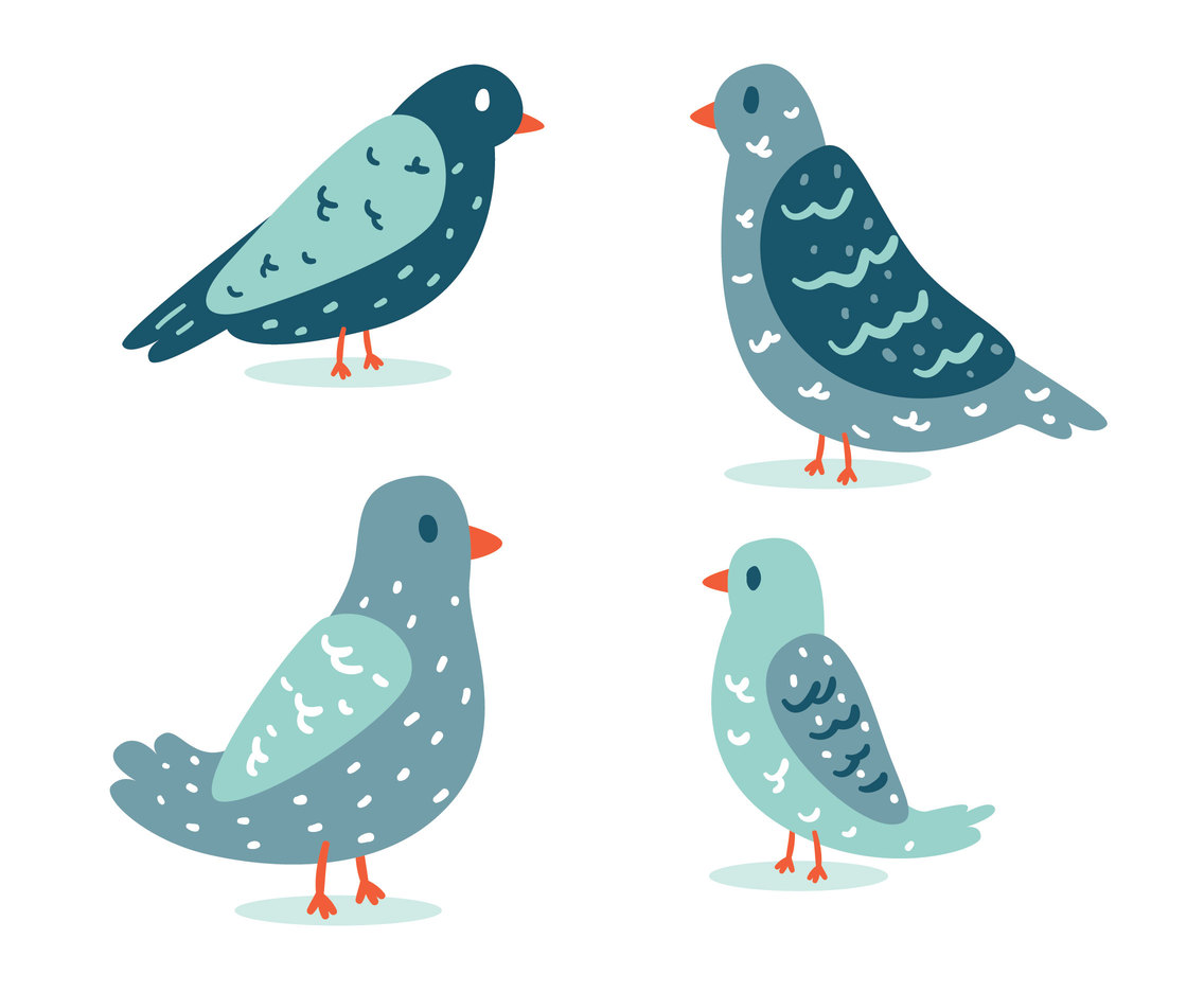 Blue Bird Collection Vector