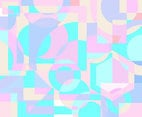 Geometric Shapes Pastel Background Vector