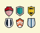 Shield Shapes Clipart Vector