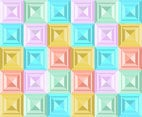 Square Pastel Background Vector