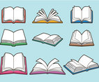 Book clipart set
