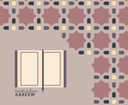Islamic Pattern With Al Quran Book