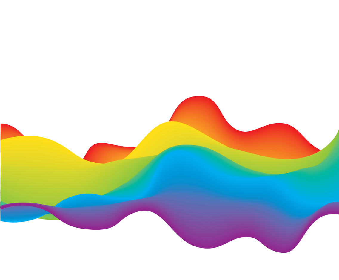 Rainbow Wave Background