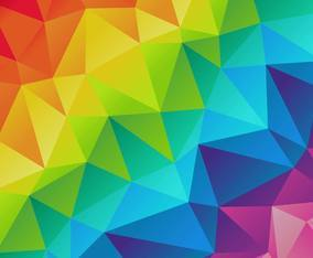 Colorful Background Triangles Vector
