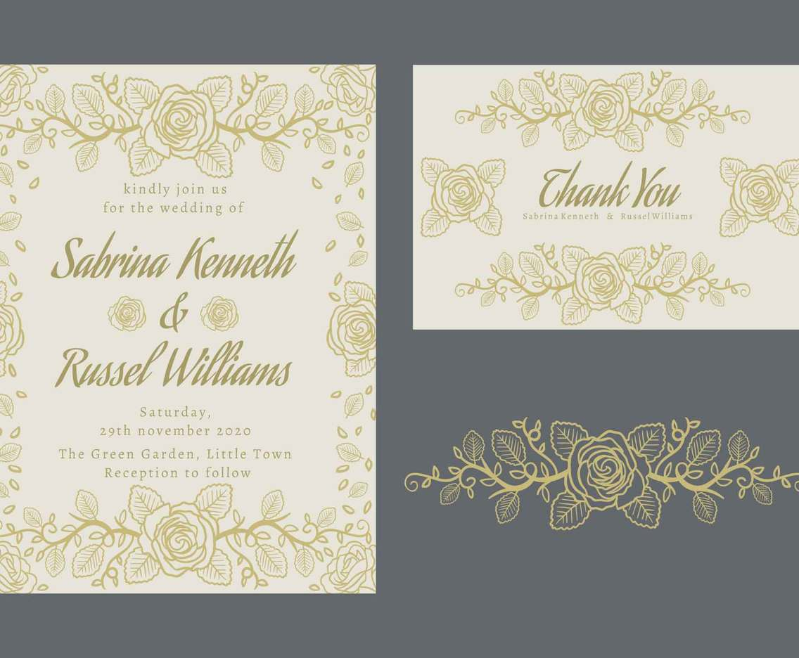 Wedding Invitation Card Vector Art Graphics Freevector Com