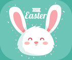 Happy Easter Cute Bunny Vector