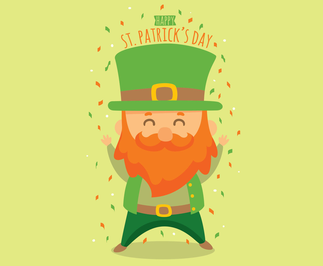 Happy Character St Patricks Day Vector
