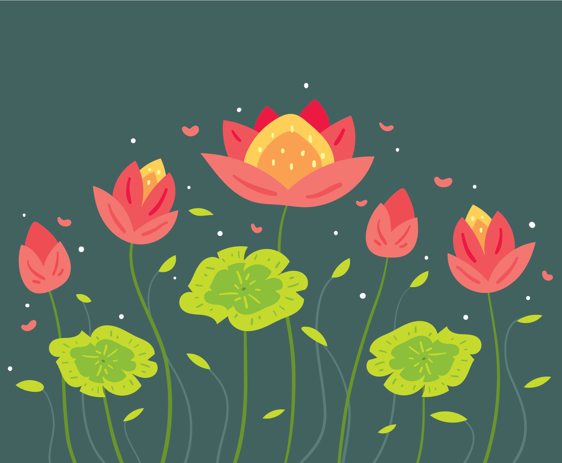 Beauty Flower Background Vector