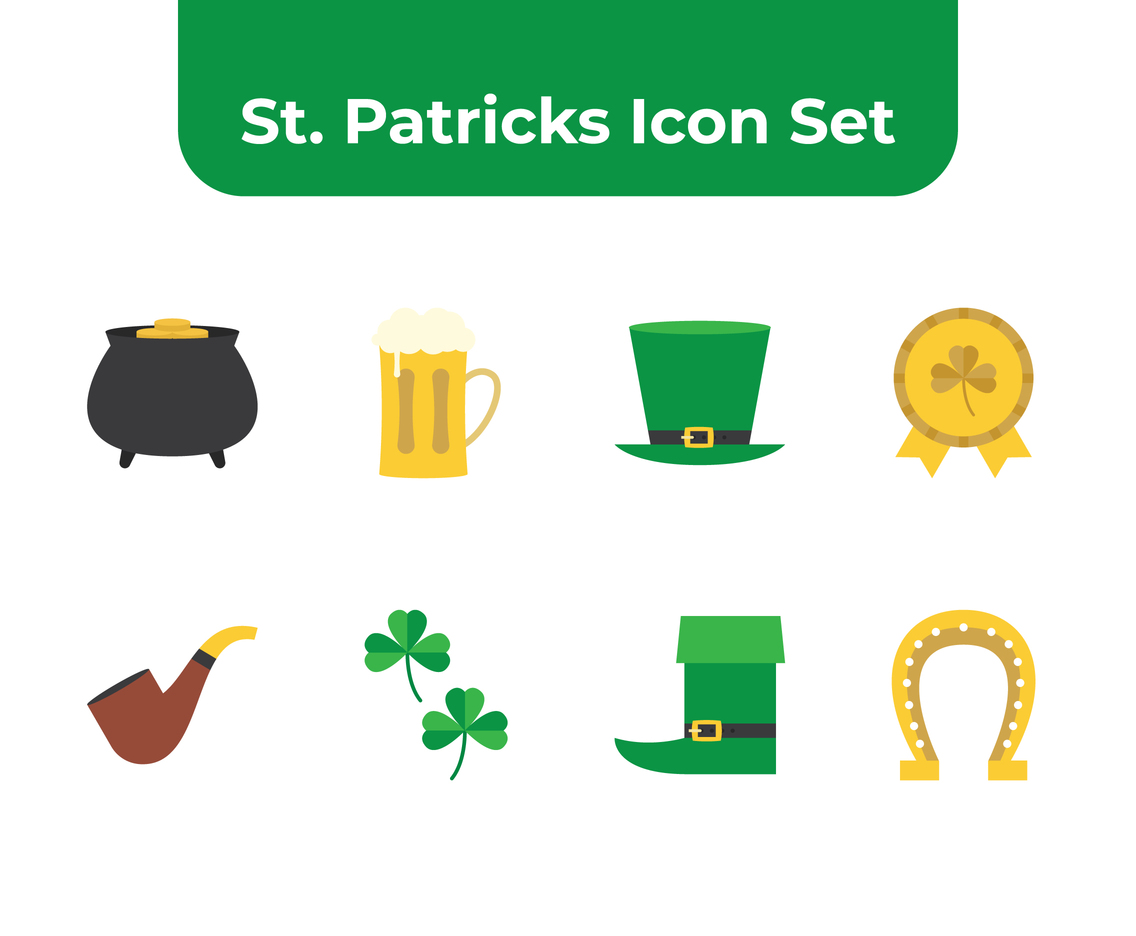St Patricks Icon Set