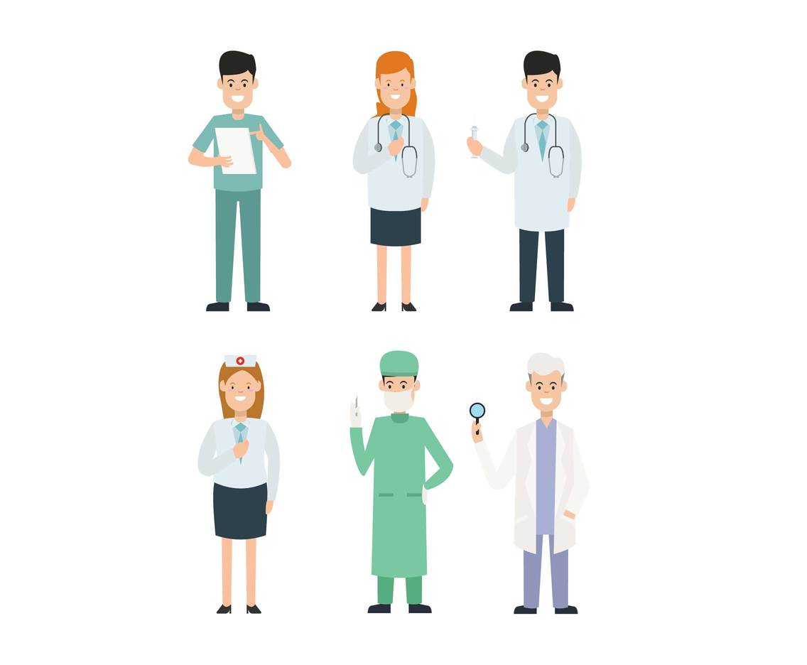 Professional Healthcare Staffs Vector