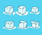 Ice Cube Clipart in Blue Background