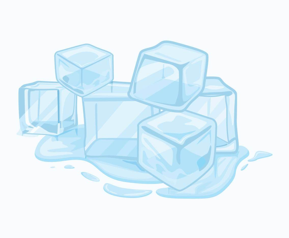 Melting Ice Cubes Clipart Vector