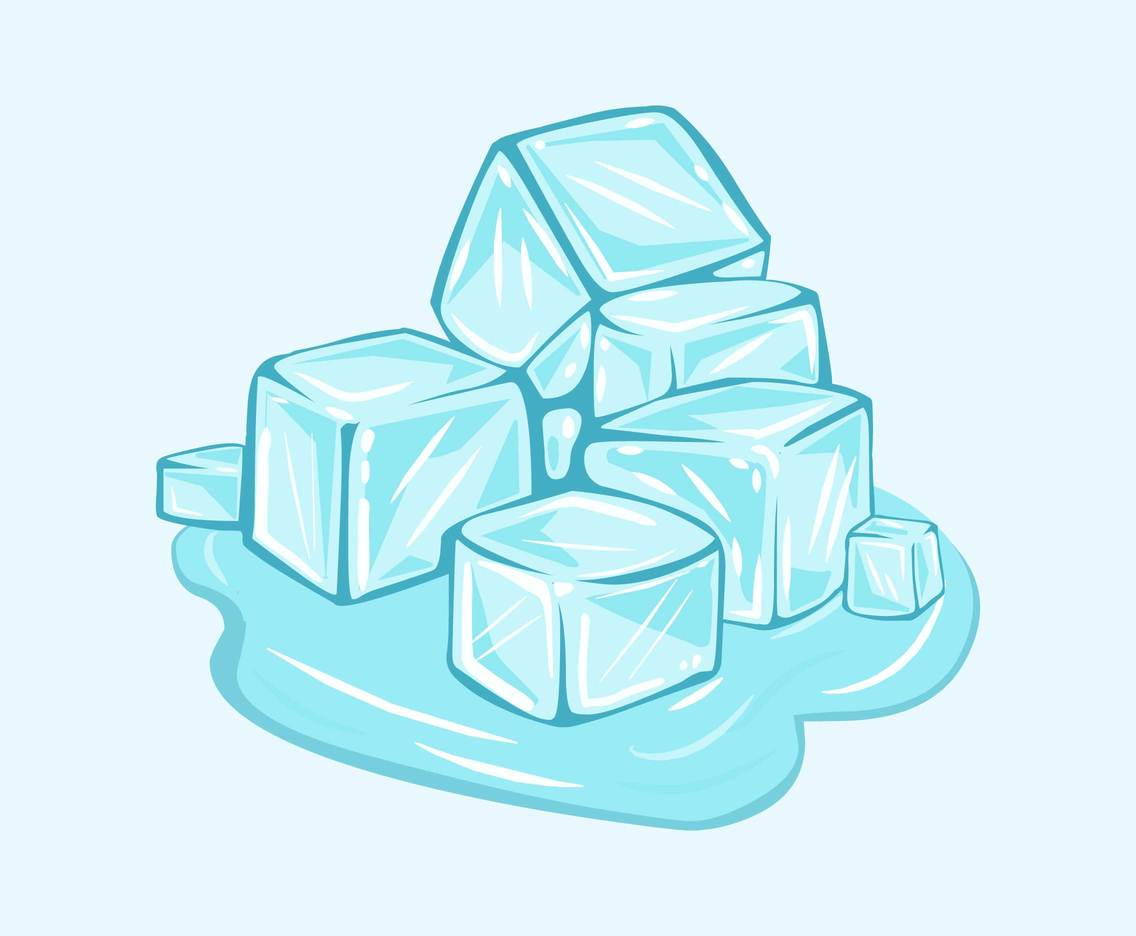 Sketchy Ice Cubes Vector