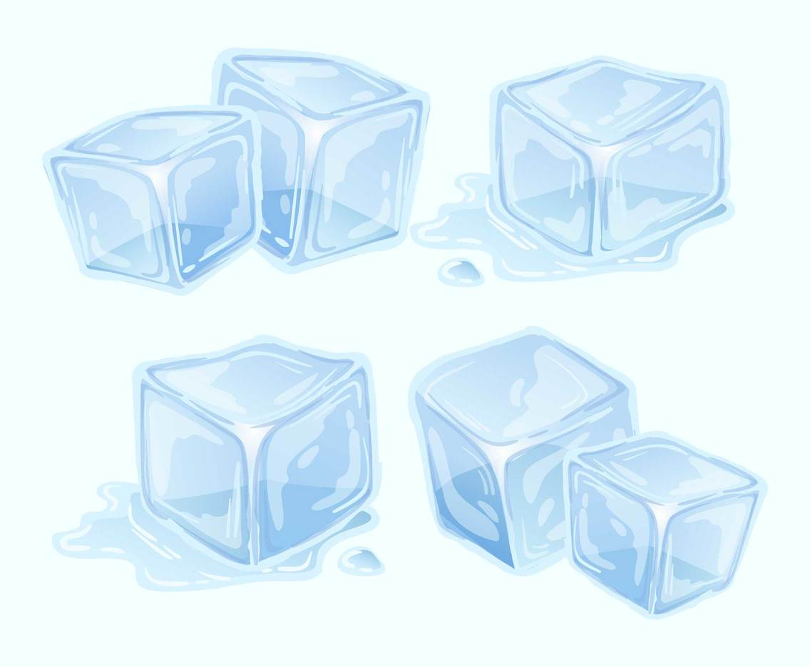 Melted Ice Cubes Vector