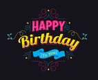 Typography Birthday Design