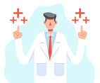 Healthcare Character with Doctor in White Coat