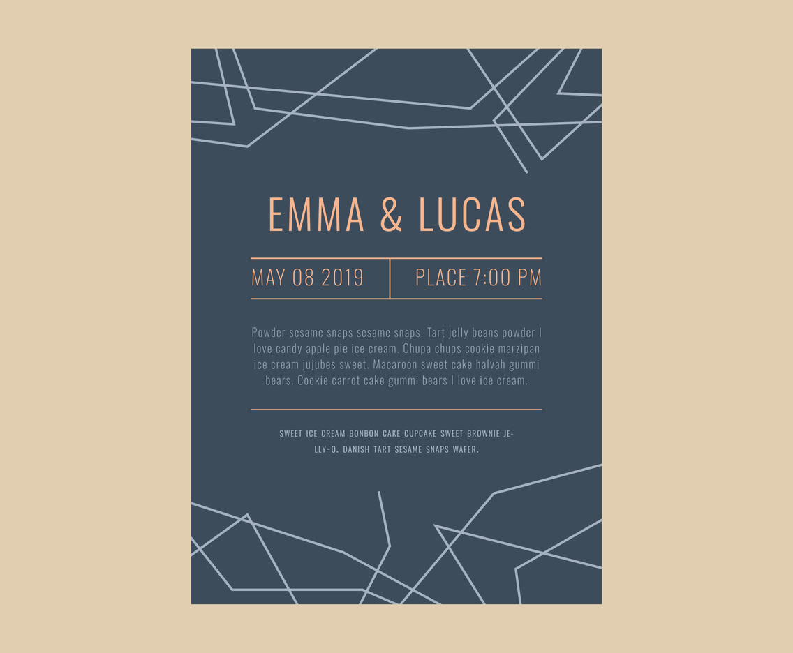 Wedding Geometric Invitation