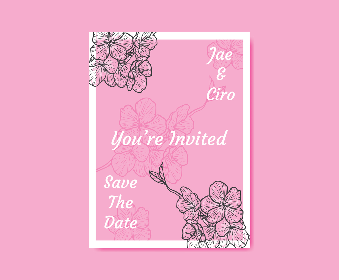 Sakura Flower Invitation