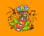 Tiki Tribal Mask and Music