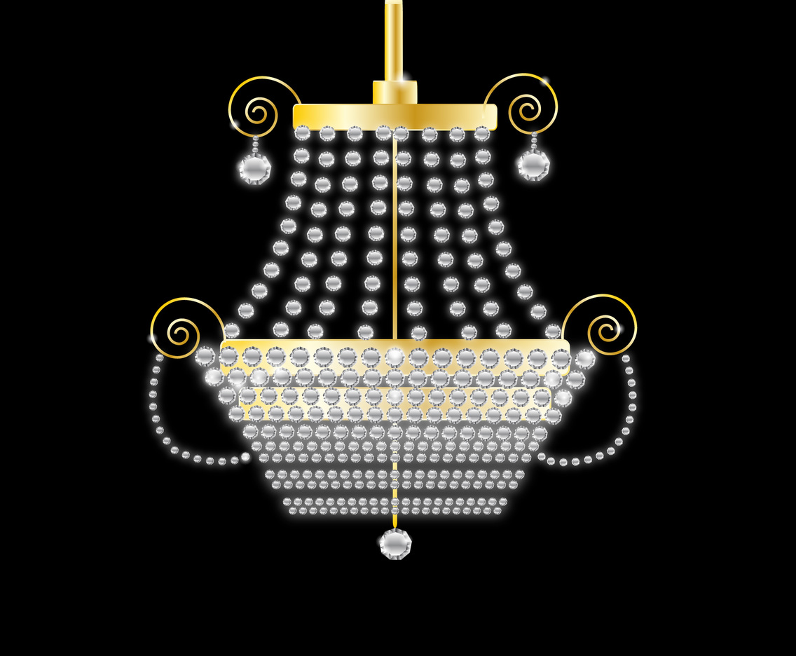 Realistic crystal decorative chandelier
