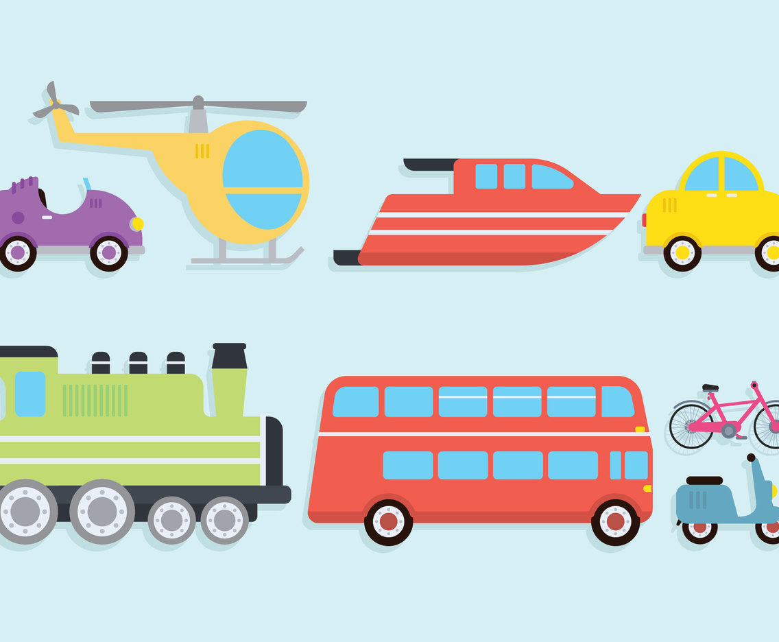 Transportation clipart set