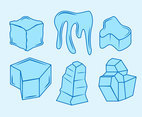 Beautiful Ice Cube Clipart Vector