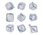 Set Of Ice Cubes