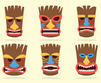 Tiki tribal masks