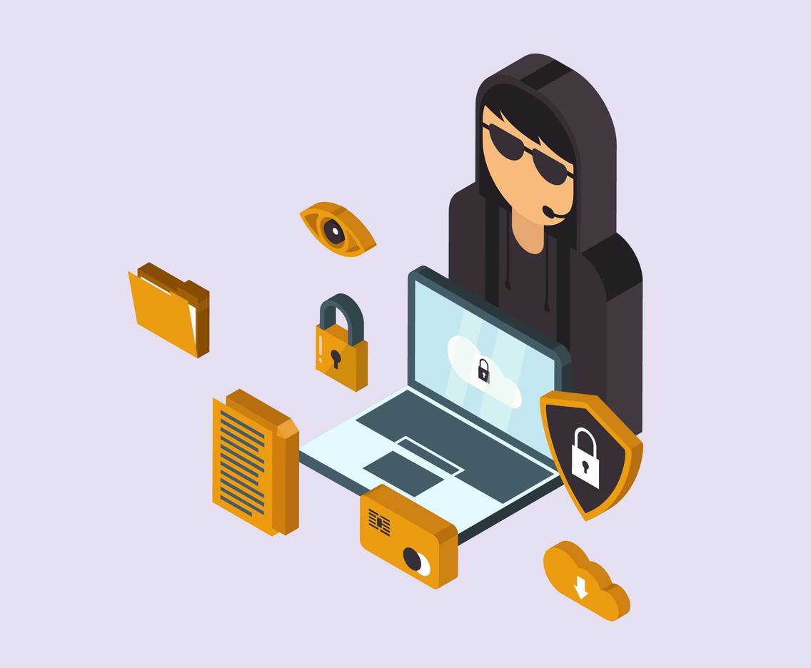 Isometric Cyber Security Vector