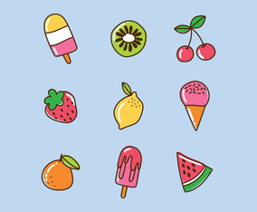 Super Colorful Sweet Summer Foods