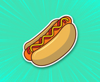 Summer Hot Dog Vector