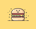 Cute Summer Burger Vector