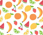 Summer Fruits Repeated Pattern