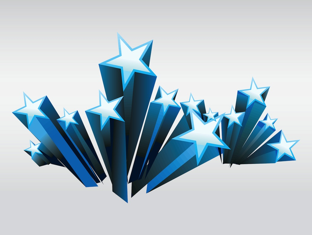 3d stars for 3d star decoration