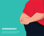 Overweight person background