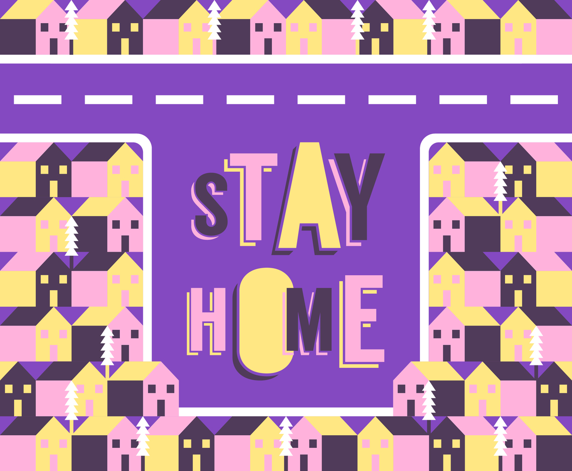 Stay Home Lettering Background