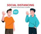 Social Distancing Wave Greeting