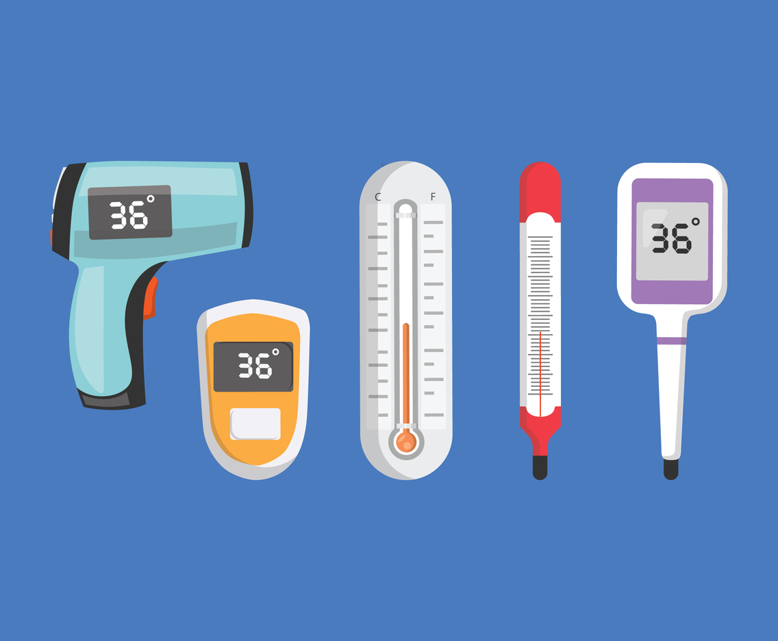 Flat Thermometer Types