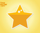 Star Sticker Vector Clip Art