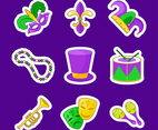 Mardi Gras Sticker Set