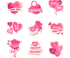 Valentine Heart Label Set