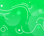 Green Background with White Wave Outline