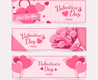 Cute Flat set of Valentine's day website banners.