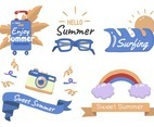 Summer label Vector Logo for banner set
