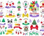Christmas label Vector Logo for banner set