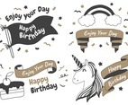 Party label Vector Logo set