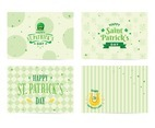 St. Patrick Day Post Card templates Collection Set.