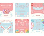 Set of A Sute Templates Social Media Post for Easter Decorated