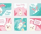 Set of Templates Social Media Post Easter Cute