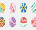 Set of Easter Eggs Decorated